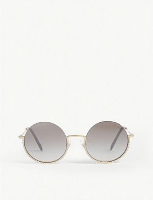 MIU MIU Circle-frame sunglasses