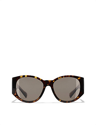 CHANEL: Butterfly aceteate sunglasses