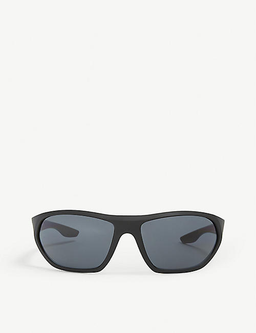 PRADA LINEA ROSSA: PS18US 66 Active rectangle frame sunglasses