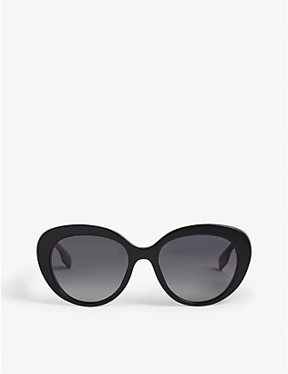 BURBERRY: BE4298 acetate round-frame sunglasses
