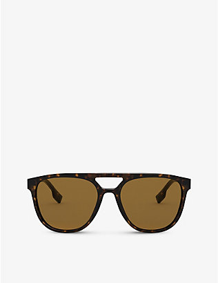 BURBERRY: BE4302 tortoiseshell acetate square-frame sunglasses