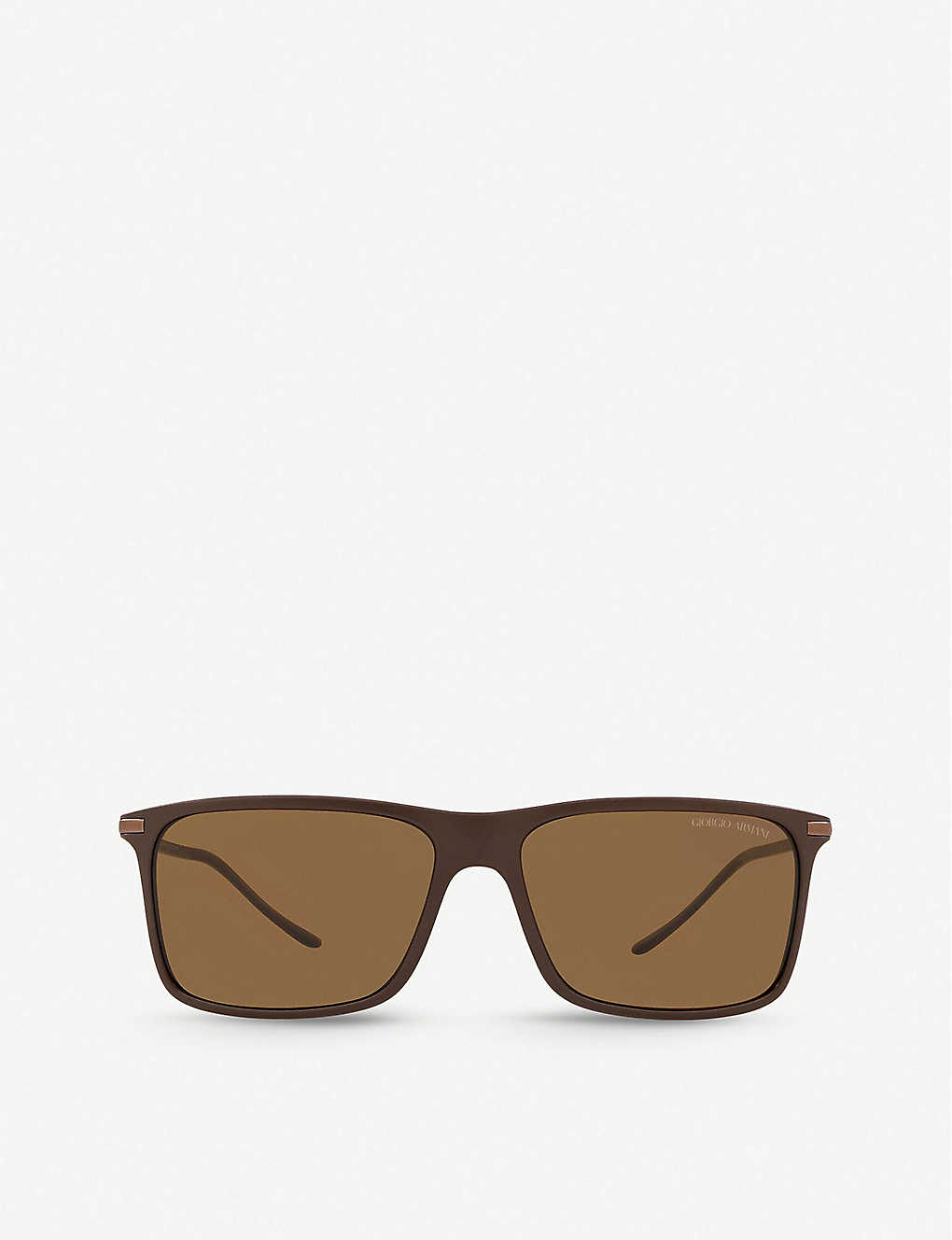 GIORGIO ARMANI: AR8034 acetate and metal square-frame sunglasses