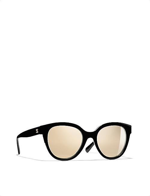 CHANEL CH5414 54 acetate butterfly-frame sunglasses