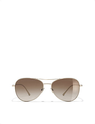 CHANEL: Pilot sunglasses