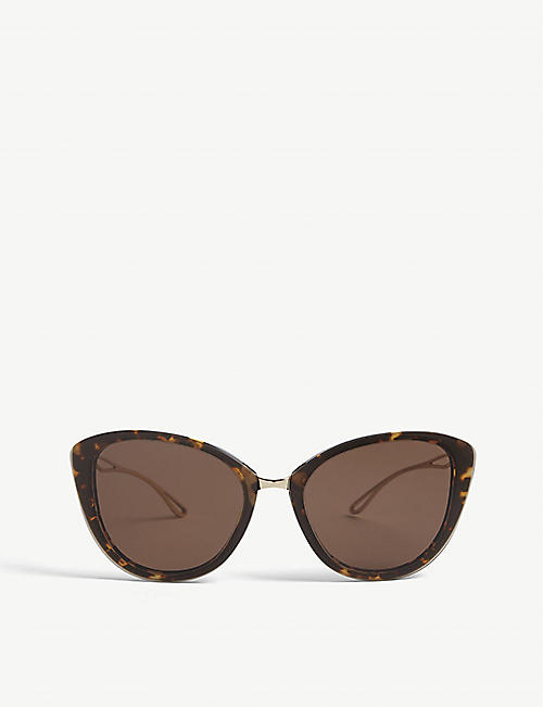 GIORGIO ARMANI: AR8123 64 cat eye-framed metal and acetate sunglasses
