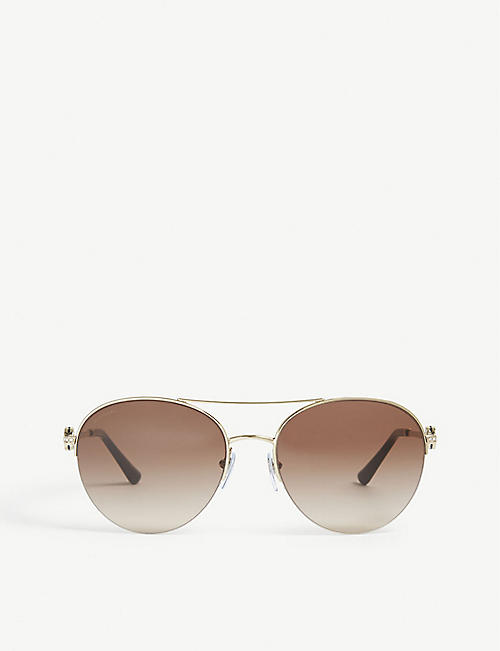 BVLGARI BV6130 61 aviator sunglasses