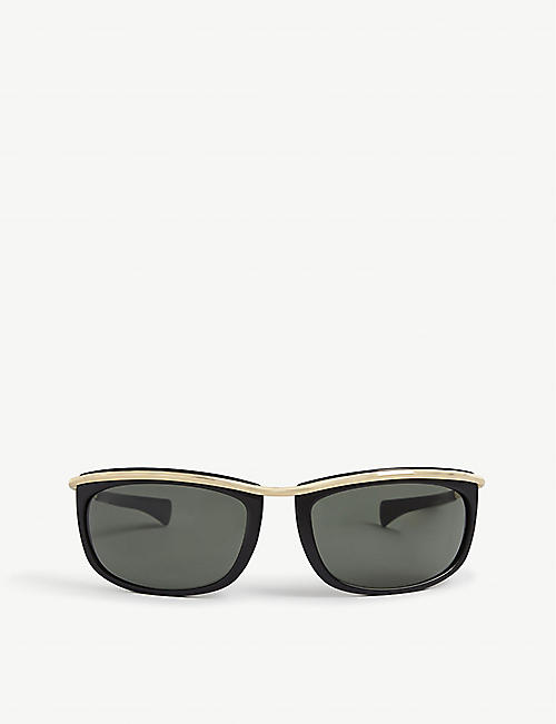 RAY-BAN: RB2319 62 Olympian I oval-framed metal sunglasses