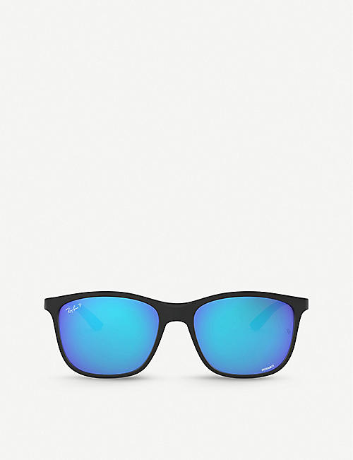 RAY-BAN: RB4330CH Chromance acetate square-frame sunglasses
