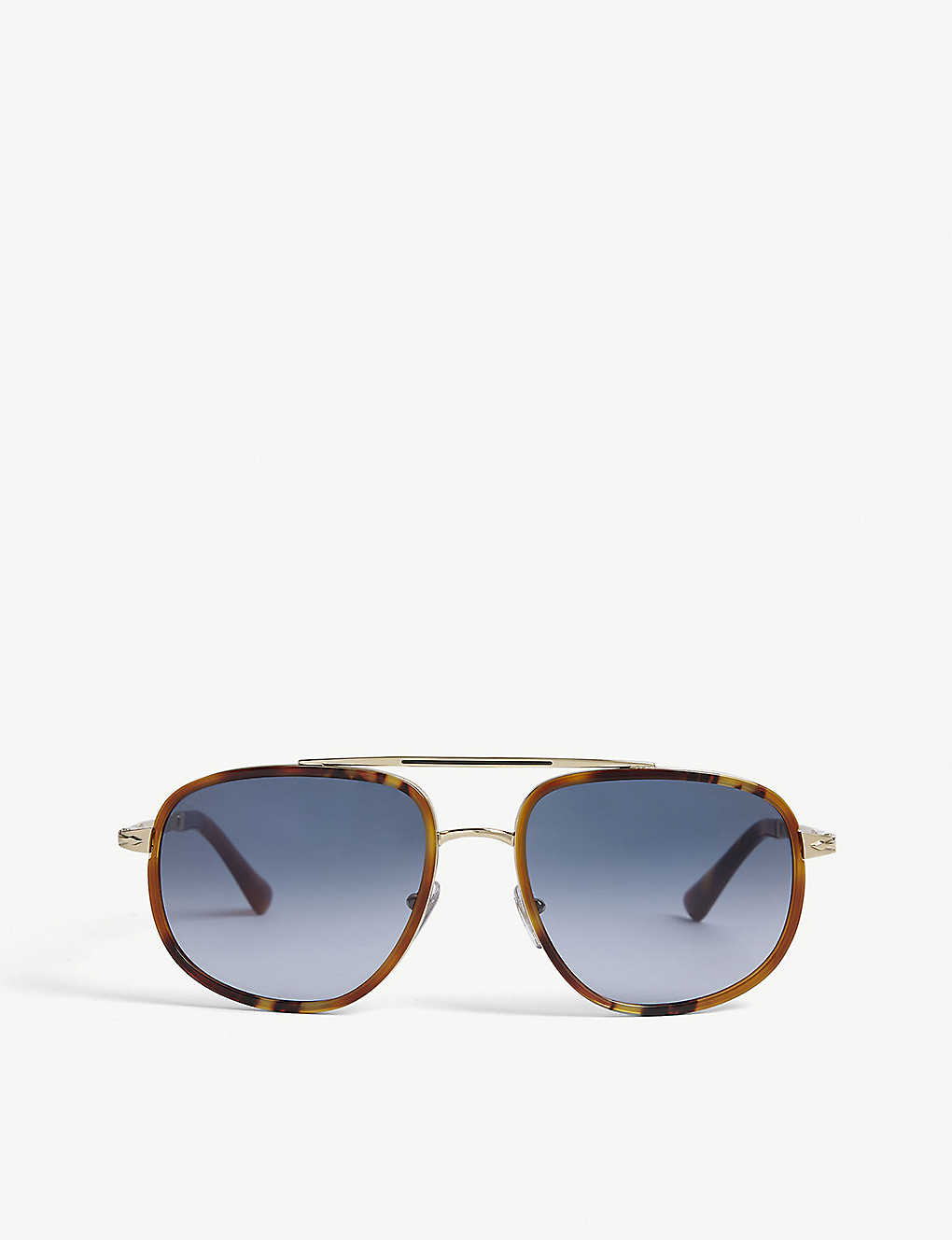 PERSOL: PO2465S 57 pilot-framed steel and acetate sunglasses