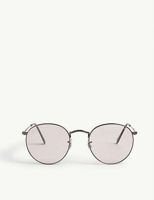 RAY-BAN: RB3447 50 round-framed metal sunglasses