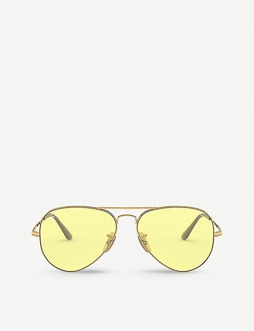 RAY-BAN: RB3689 Aviator II metal glass aviator sunglasses