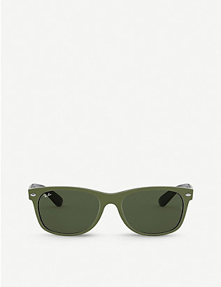 RAY-BAN: RB2132 55 New Wayfarer Colour Mix nylon sunglasses