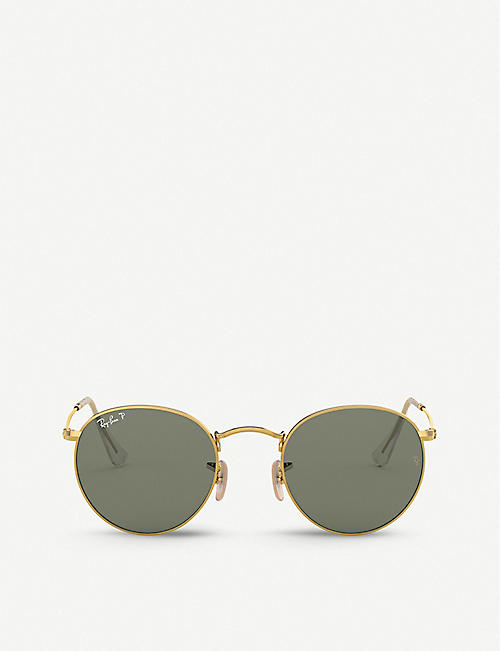 RAY-BAN: RB3447 metal crystal round-frame sunglasses