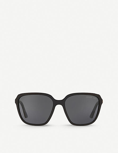 PRADA: PR 10VS 58 Heritage square acetate sunglasses