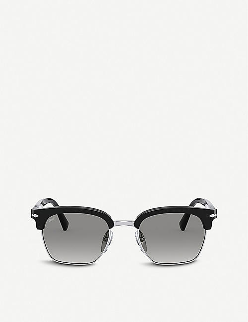 PERSOL: PO3199S 53 acetate and glass square-frame sunglasses