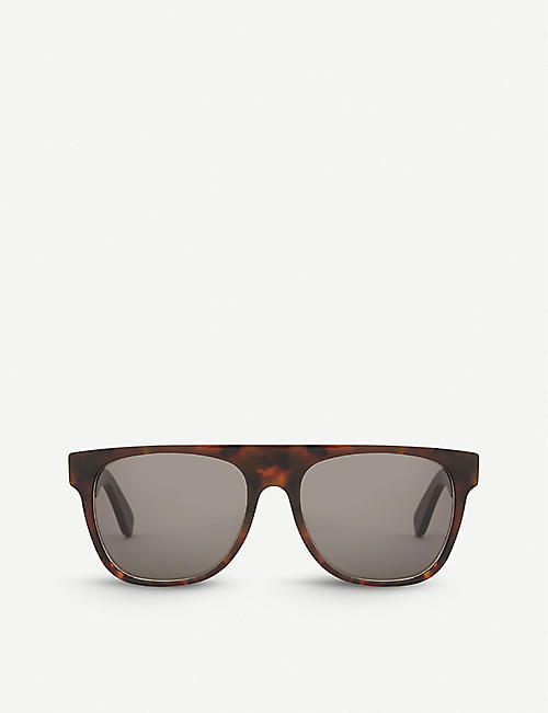 RETRO SUPER FUTURE: Havana square-frame sunglasses