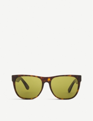 RETRO SUPER FUTURE Havana square-frame sunglasses