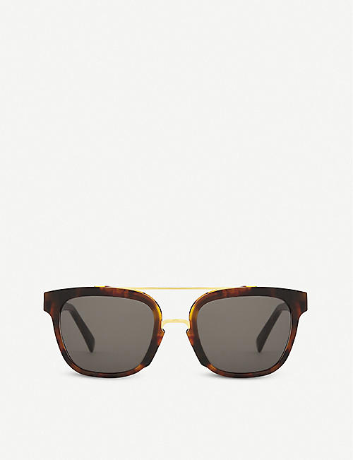 RETRO SUPER FUTURE Akin tortoiseshell square-frame sunglasses