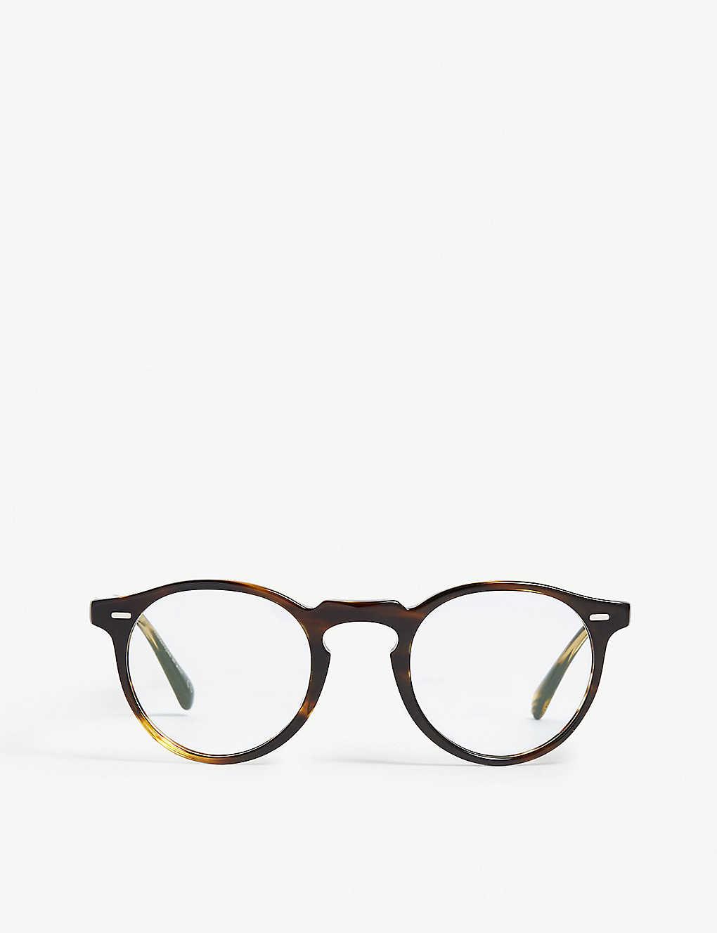 2e5c03d18497 OLIVER PEOPLES - Gregory Peck Havana round-frame glasses ...