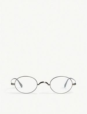 OLIVER PEOPLES oval-frame calidor 椭圆框架玻璃杯
