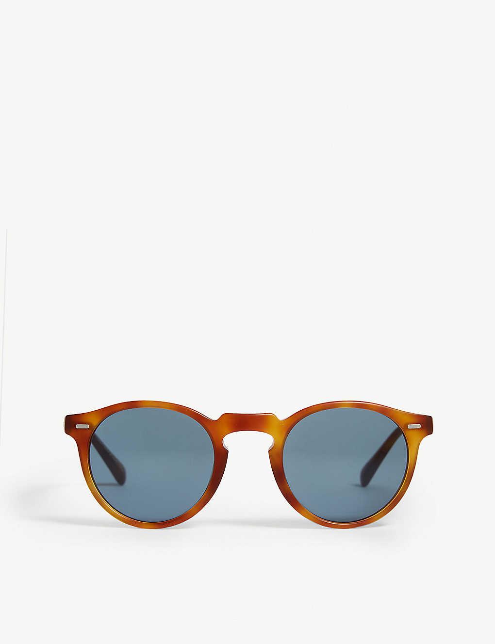 5e4c0cdddd91 OLIVER PEOPLES - Gregory Peck tortoiseshell round-frame sunglasses ...