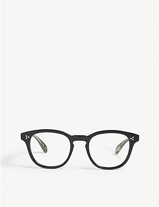 OLIVER PEOPLES: Kauffman square-frame optical glasses