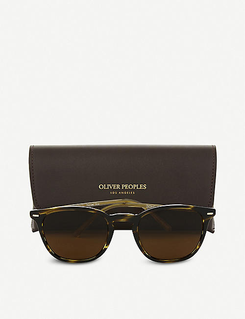 OLIVER PEOPLES Heaton rectangle-frame sunglasses