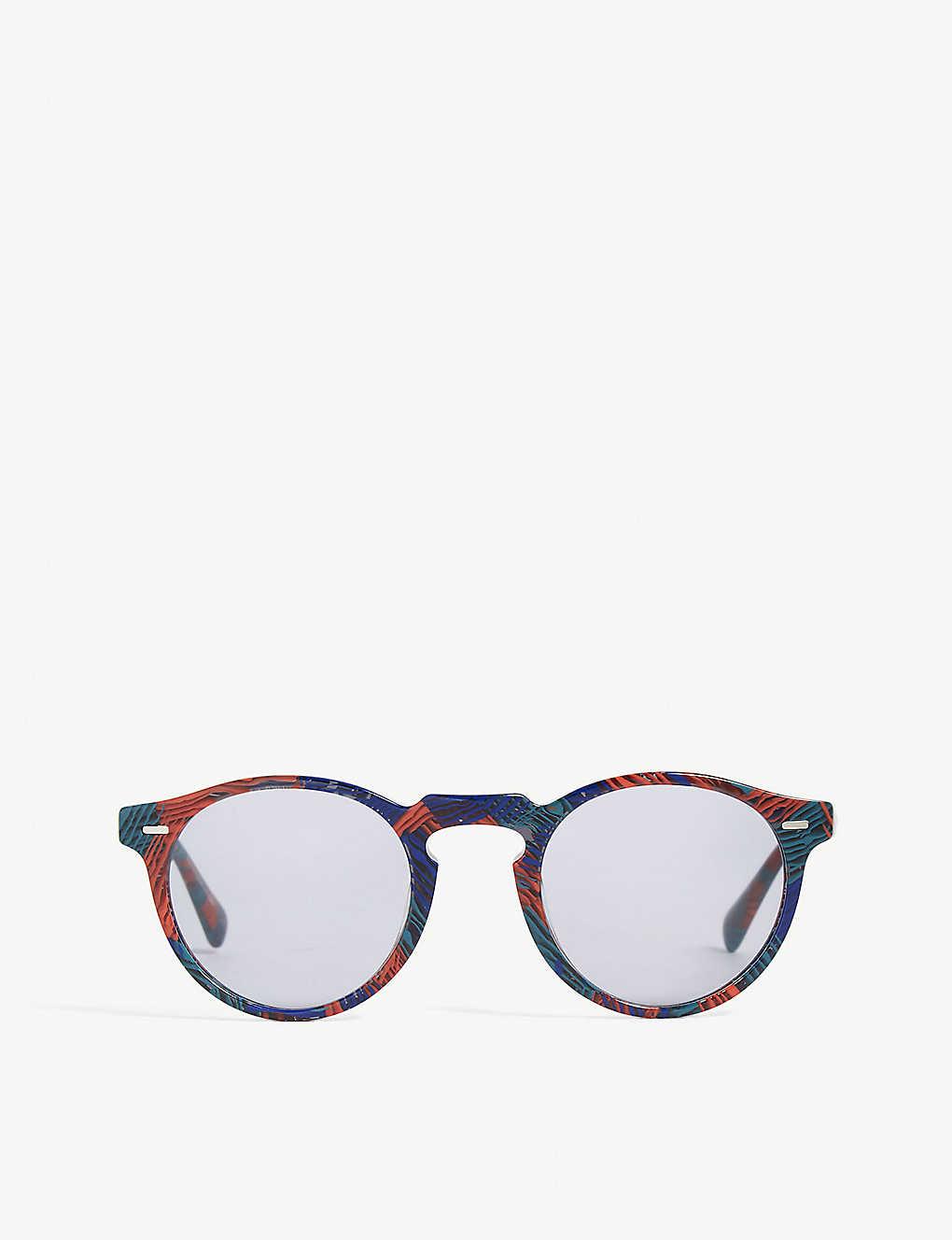 75017475f308 OLIVER PEOPLES - Gregory Peck Phantos-frame sunglasses | Selfridges.com