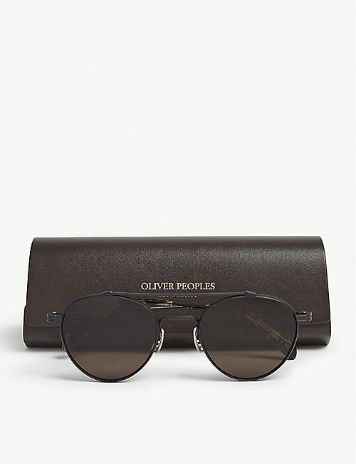 OLIVER PEOPLES Watts Sun OV1223ST pilot-frame sunglasses