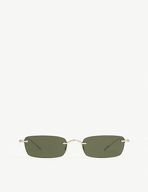 d9c3c621a1e OLIVER PEOPLES Daveigh rectangle-frame sunglasses