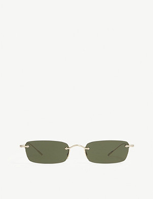 OLIVER PEOPLES Daveigh 矩形框架太阳镜