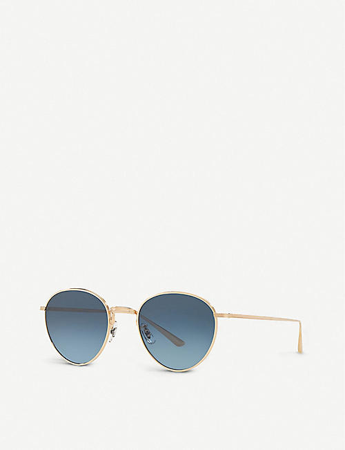 OLIVER PEOPLES OV1231 Brownstone 2 round-frame sunglasses