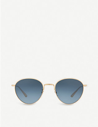 OLIVER PEOPLES: OV1231 Brownstone 2 round-frame sunglasses