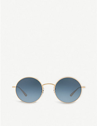 OLIVER PEOPLES: OV1197 After Midnight round-frame sunglasses