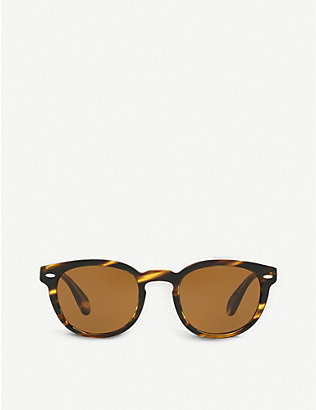 OLIVER PEOPLES: Sheldrake phantos-frame sunglasses