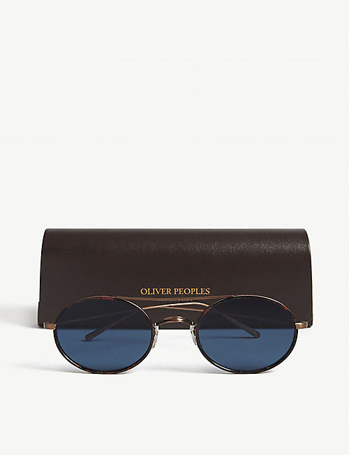 OLIVER PEOPLES OV1248ST 沙伊椭圆形框架太阳镜