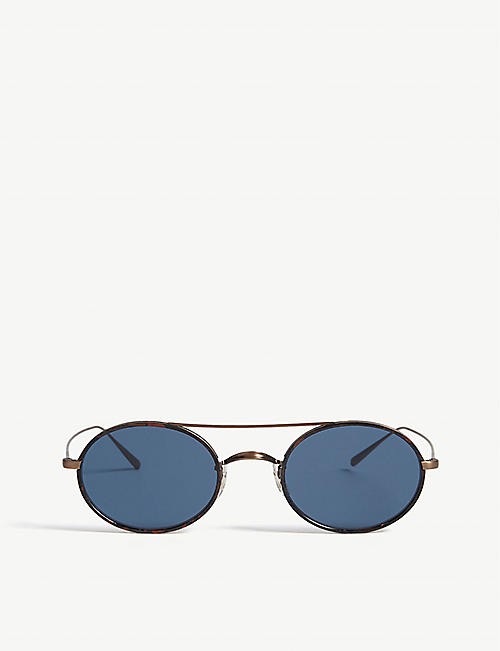 OLIVER PEOPLES OV1248ST Shai oval-frame sunglasses