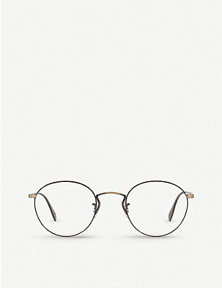 OLIVER PEOPLES: OV1186 Coleridge metal and acetate round-frame glasses