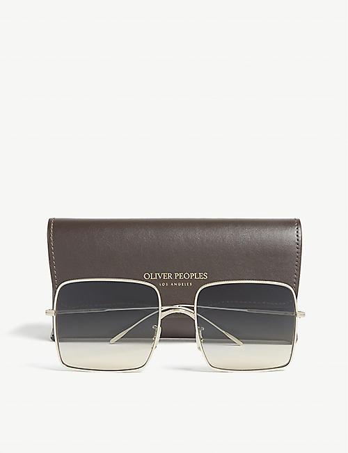 24943ab49dc8c OLIVER PEOPLES Rassine gradient square-frame sunglasses · Quick Shop