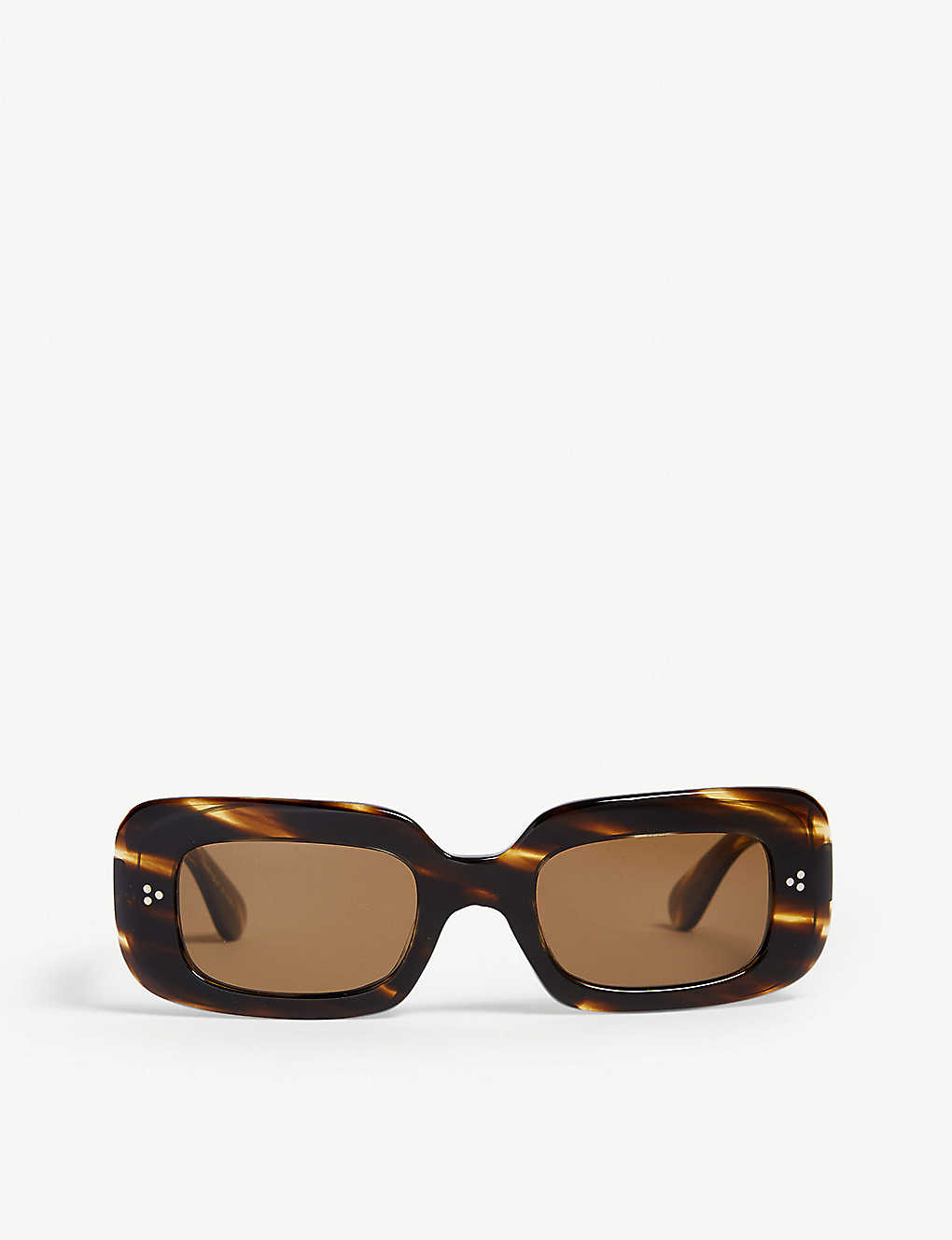 OLIVER PEOPLES: Saurine rectangle-frame sunglasses