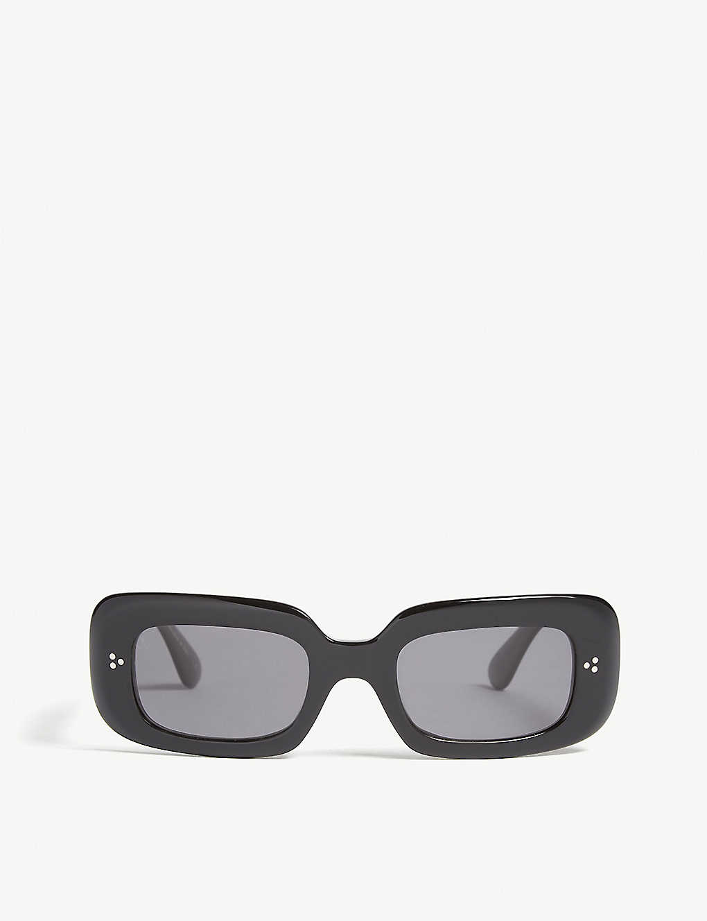 OLIVER PEOPLES: Saurine rectangle-frame polarised sunglasses