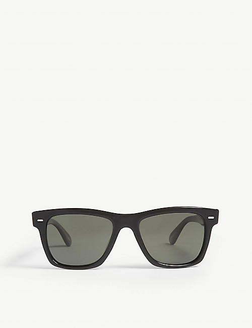 OLIVER PEOPLES Oliver rectangle-frame polarised sunglasses