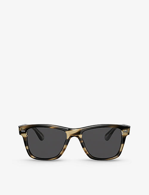 OLIVER PEOPLES: OV5393SU 54 Oliver Sun acetate square-frame sunglasses