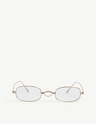 OLIVER PEOPLES: Edeson oval-frame glasses
