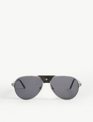 CARTIER CT0034S pilot-frame sunglasses