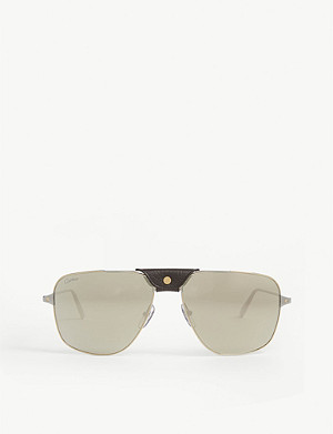CARTIER CT0037S pilot-frame sunglasses