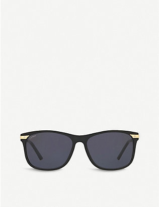 CARTIER: CT0104S Panthère de Cartier square-frame sunglasses