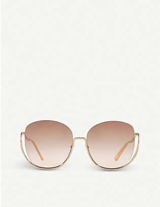 CHLOE: CE125S metal butterfly-frame sunglasses