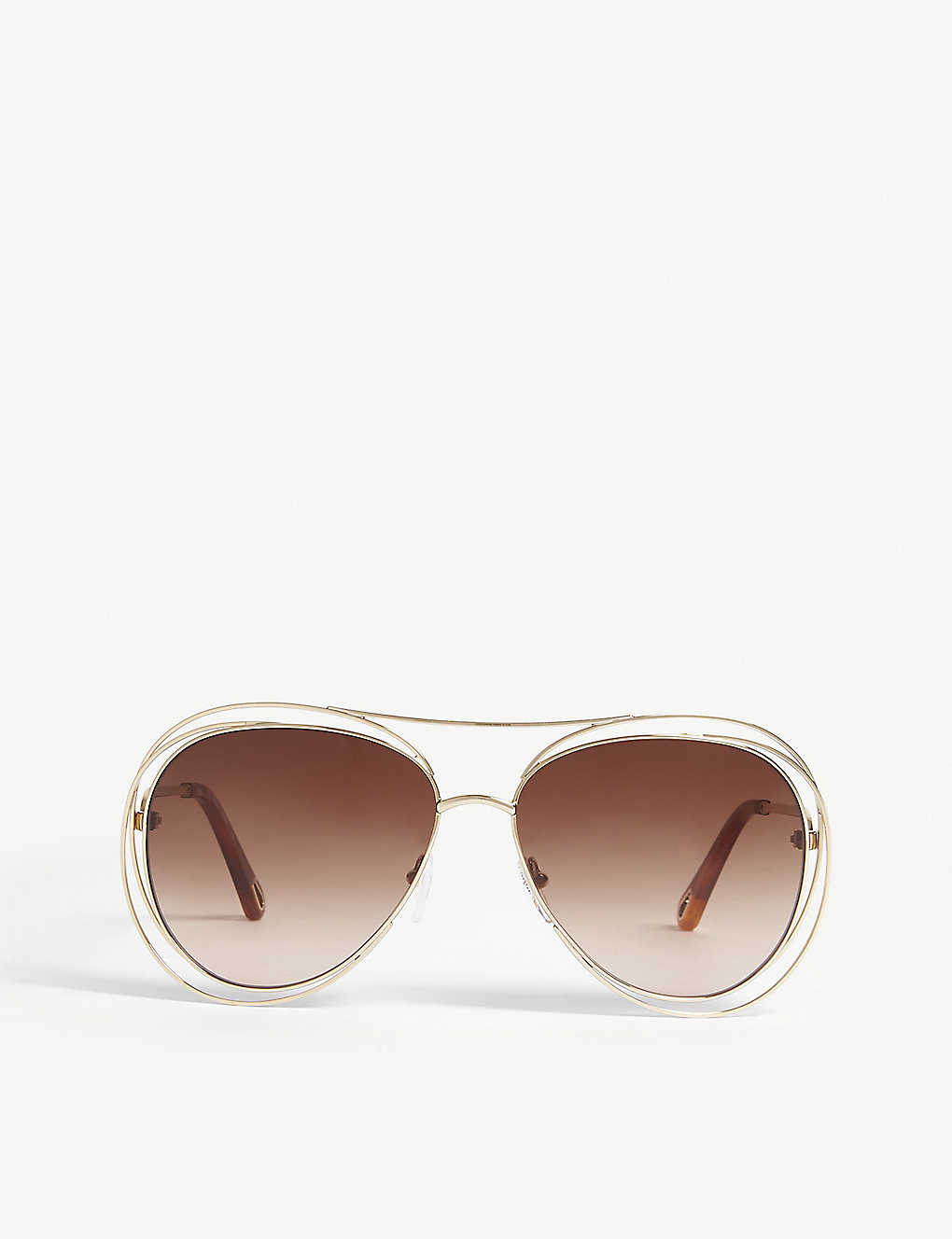 CHLOE: Carlina CE134S pilot sunglasses