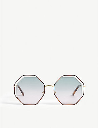 CHLOE: CE132S poppy irregular sunglasses